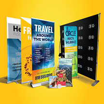 Retractable banner stands - Pop up banner stand