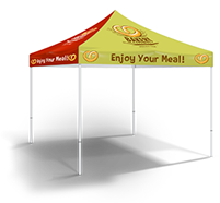 Custom printed event tents - with or without frame