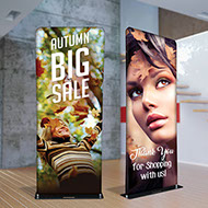 Fabric tube displays - premium fabric banner display