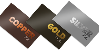 Metallic, foil & raised foil business cards