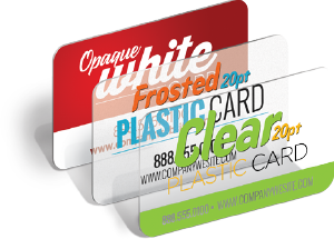 Sturdy & durable plastic cards