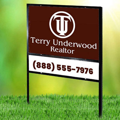 Real estate sign - heavy duty yard sign