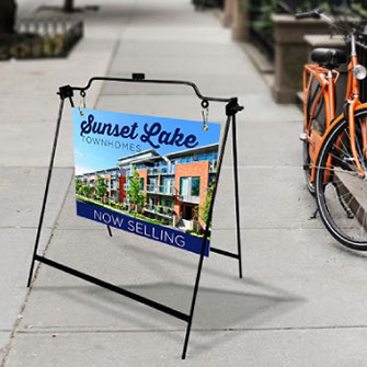 Durable metal sidewalk sign - Perfect for real estate signs