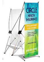 Custom banner stand - Printed full color with X-Style banner stand